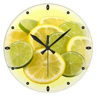Lemon and Lime Wall Clocks
