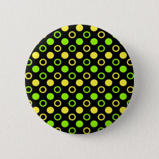 Lemon and Lime Rings and Polka Dots by STaylor 6 Cm Round Badge