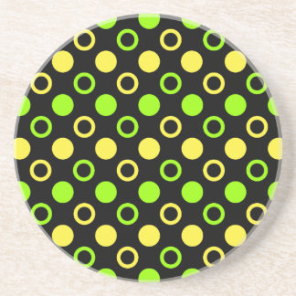 Lemon and Lime Rings and Polka Dots by STaylor Coaster