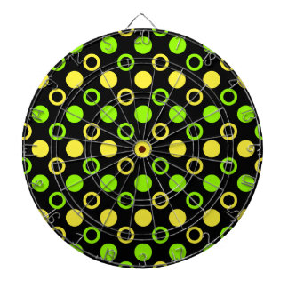 Lemon and Lime Rings and Polka Dots by STaylor Dartboard