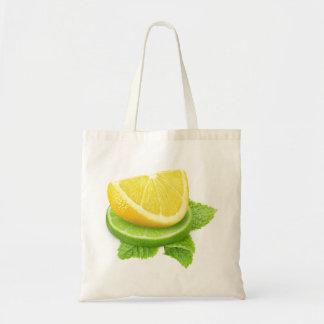 Lemon and lime slices budget tote bag