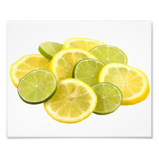 Lemon and Lime Slices Photographic Print