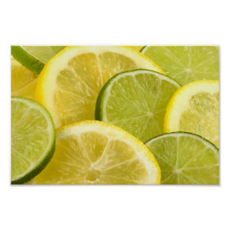 Lemon and Lime Slices Poster