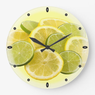 Lemon and Lime Wallclocks