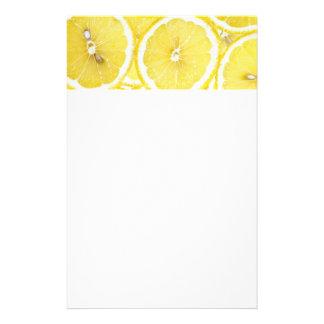 Lemon background stationery