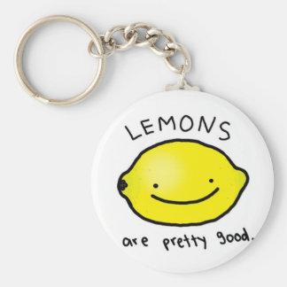 Lemon Basic Round Button Key Ring