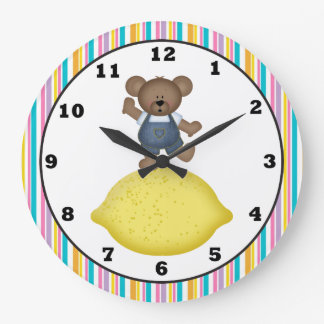 Lemon Bear Kitchen Clock