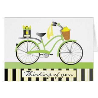 Lemon Bicycle Note Card