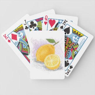 lemon bicycle playing cards