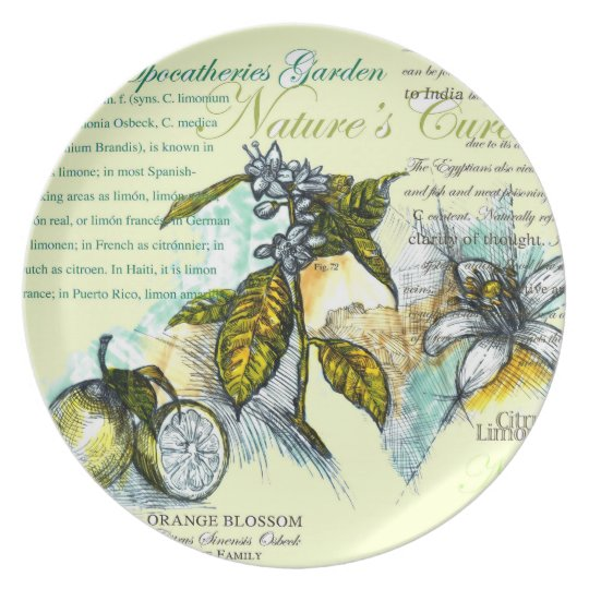 Lemon Blossoms - Melamine Plate