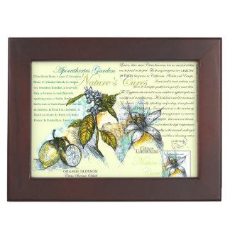 Lemon Blossons Tea Bag Box, 1 Keepsake Box