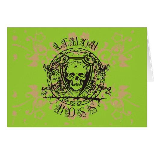 Lemon Boss Skull Tshirts and Gifts Cards