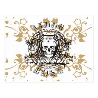 Lemon Boss Skull Tshirts and Gifts Postcards