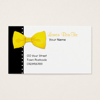 Lemon BowTie Business Card