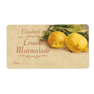 Lemon Canning label