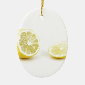 lemon ceramic oval decoration