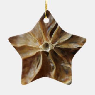 Lemon Ceramic Star Decoration