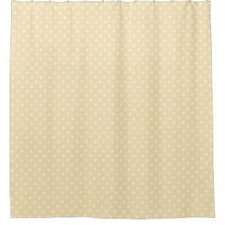 Lemon chiffon yellow polka dots shower curtain