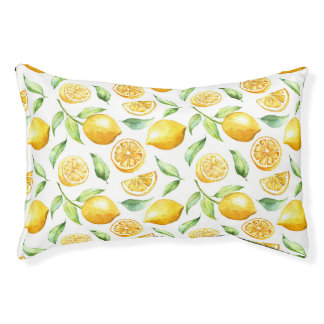 Lemon Citrus Dog Bed