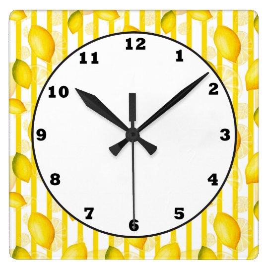 Lemon Citrus fun kitchen fruit wall clock
