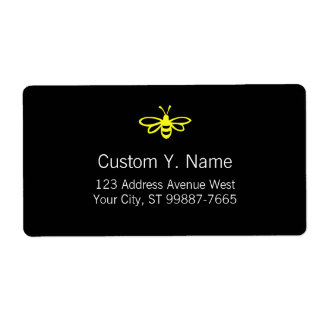 Lemon Colored Bee Shipping Label