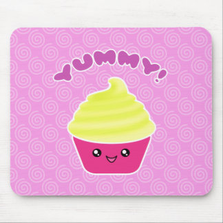 Lemon Cream Yummy Kawaii Cupcake Mousepad
