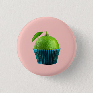 Lemon cupcake 3 cm round badge