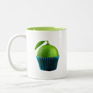 Lemon cupcake Two-Tone coffee mug