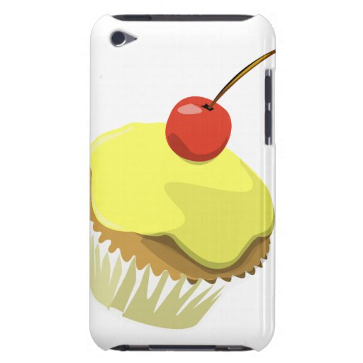 Lemon cupcake with cherry ipod touch case
