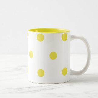 Lemon Dots Two-Tone Coffee Mug
