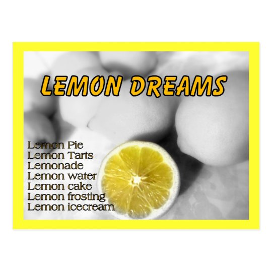 Lemon Dreams Postcard