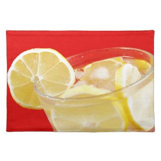 Lemon drink design placemat