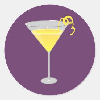 Lemon Drop Classic Round Sticker