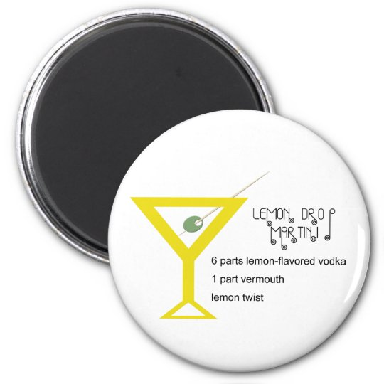 Lemon Drop Martini Magnet