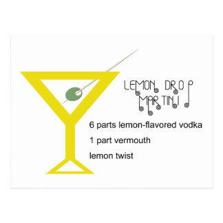 Lemon Drop Martini Postcard