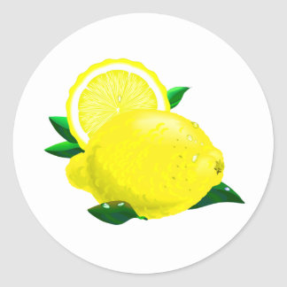 Lemon Drops Classic Round Sticker