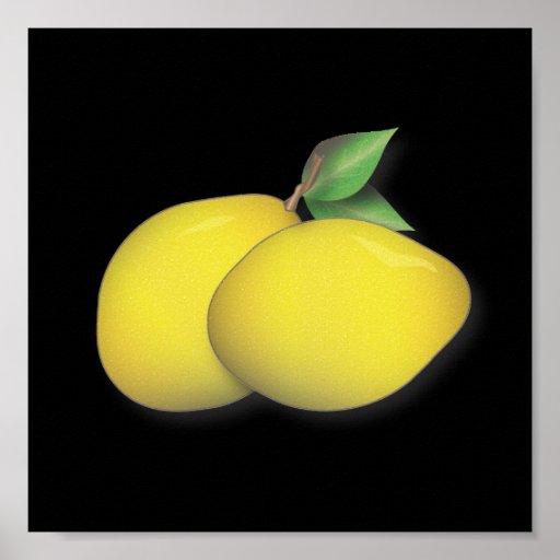 Lemon Duo Bold & Modern Kitchen Poster