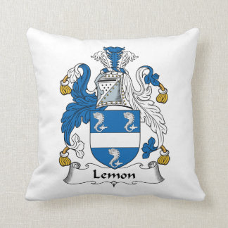 Lemon Family Crest Cushion