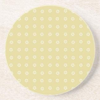 Lemon Flower Pattern Beverage Coasters