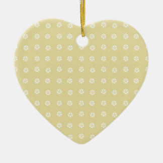 Lemon Flower Pattern Ceramic Heart Decoration