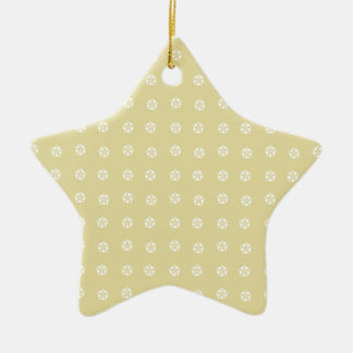 Lemon Flower Pattern Ceramic Star Decoration