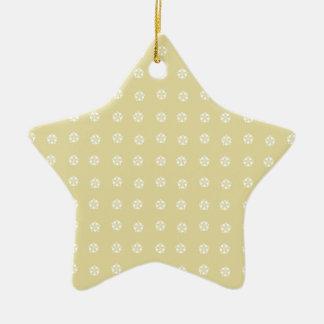 Lemon Flower Pattern Christmas Ornament