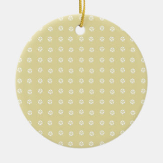 Lemon Flower Pattern Christmas Ornament