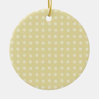 Lemon Flower Pattern Round Ceramic Decoration