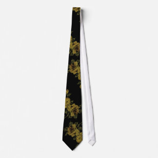Lemon Flowers on Black Tie