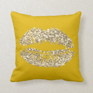Lemon Foxier Gold Glitter Kiss Lips Makeup Sparkly Cushion