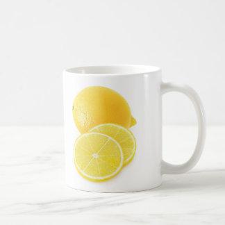 Lemon fruit basic white mug