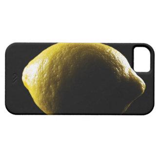 Lemon,Fruit,Black background iPhone 5 Covers