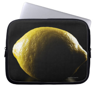 Lemon,Fruit,Black background Laptop Sleeve