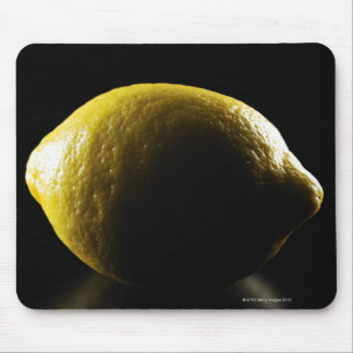 Lemon,Fruit,Black background Mouse Mat